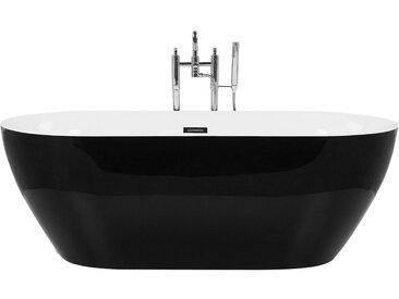 Badewanne freistehend schwarz oval CARRERA