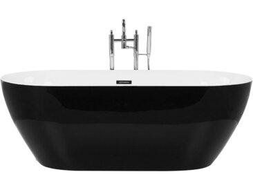 Badewanne freistehend schwarz oval 170 x 80 cm CARRERA