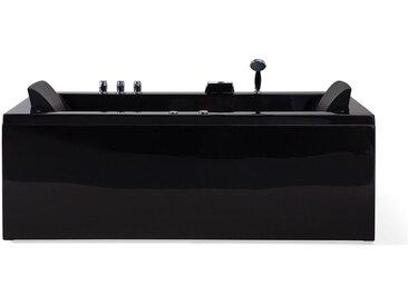 Whirlpool Badewanne schwarz mit LED rechts VARADERO
