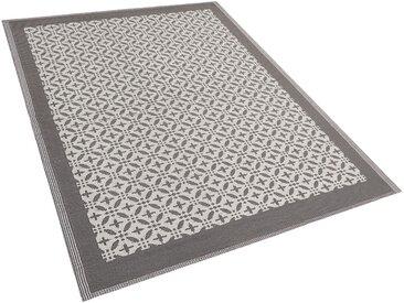 Outdoor Teppich grau 160 x 230 cm geometrisches Muster ABOHAR