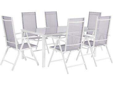 Gartenmöbel Set Aluminium grau 6-Sitzer CATANIA