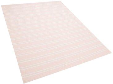 Outdoor Teppich rosa 160 x 230 cm zweiseitig AKYAR