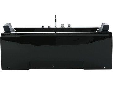 Whirlpool Badewanne mit LED schwarz rechteckig 170 cm GALLEY