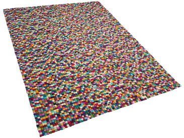 Filzkugelteppich bunt 160 x 230 cm AMDO