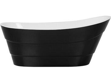 Badewanne freistehend schwarz oval BUENAVISTA