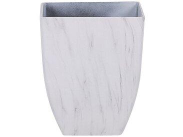 Blumenkübel weiß Marmor Optik quadratisch 35 x 35 x 42 cm MIRO