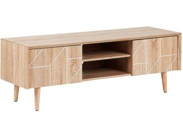 TV-Möbel heller Holzfarbton FRANKLIN