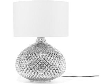 Tischlampe Glas silber 55 cm MADON