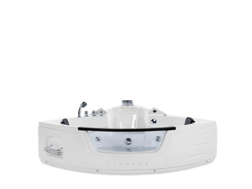 Whirlpool Badewanne weiß Eckmodell mit LED 140 cm MARTINICA