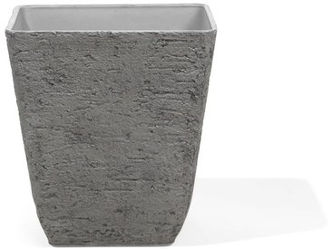 Blumenkübel grau quadratisch 49 x 49 x 53 cm DELOS