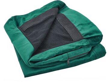 Sofabezug für 2-Sitzer BERNES Samtstoff grün