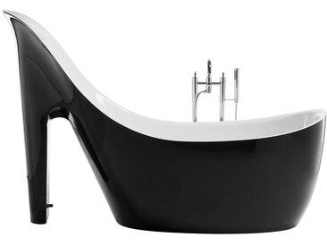 Badewanne High Heel freistehend schwarz-weiß COCO