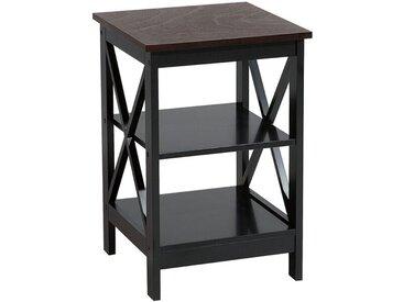 Beistelltisch schwarz quadratisch 40 x 40 cm FOSTER
