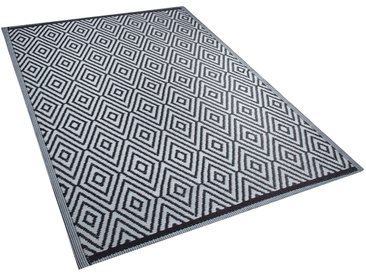 Outdoor Teppich schwarz 150 x 200 cm SIKAR