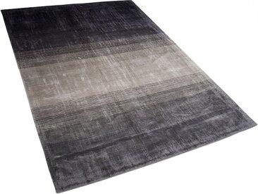 Teppich grau-schwarz 140 x 200 cm Kurzflor ERCIS
