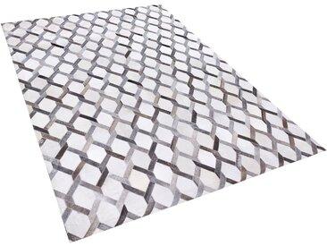 Teppich Kuhfell grau 160 x 230 cm Patchwork AYDIN