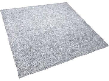 Teppich grau meliert 200 x 200 cm Shaggy DEMRE