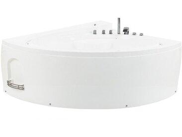 Whirlpool-Badewanne Eckmodell mit LED PELICAN