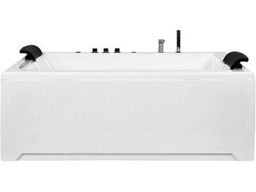 Whirlpool Badewanne weiß mit LED rechteckig 183 x 142 cm SALAMANCA
