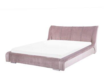 Wasserbett Samtstoff rosa 160 x 200 cm NANTES