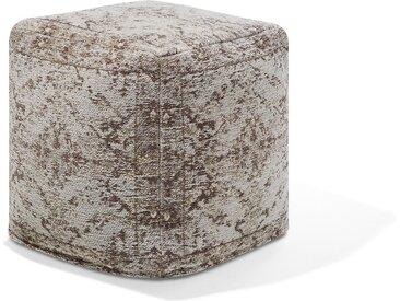 Pouf grau/beige 42 x 42 cm MEERUT