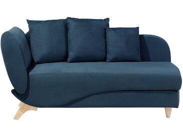 Chaiselongue dunkelblau mit Bettkasten MERI