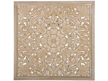 Wanddekoration heller Holzfarbton/weiß YONORA