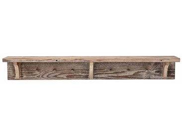 Garderobenleiste aus Kiefernholz mit Ablage, L100 cm