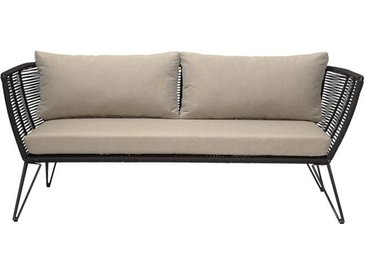 Outdoor Mundo Sofa, schwarz/beige