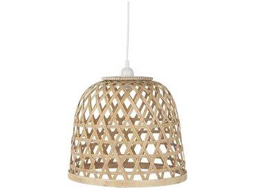 Deckenlampe aus Bambus, naturfarben, Ø34 cm