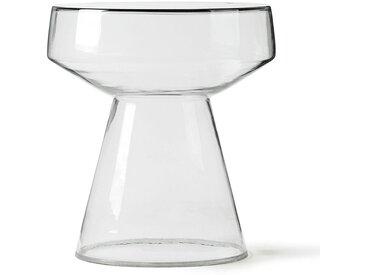 Beistelltisch aus Glas, Ø39xH42 cm