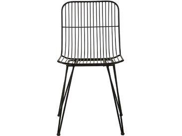 Stuhl aus Metall, schwarz