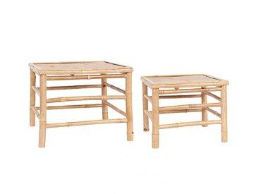 Beistelltisch-Set aus Bambus bis L54xB54XH44 cm, 2-tlg.