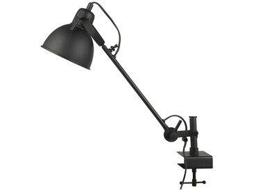 Regallampe mit verstellbarem Arm, schwarz, Ø15,5 cm