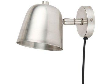 Wandlampe in Antik-Silberfarben, Ø10 cm