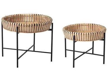 Beistelltisch-Set aus Bambus, 2-tlg.