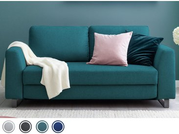 Schlafsofa 2-Sitzer in Türkis inkl. Holz- und Metallfüßen | BRUNO - Hochwertige Materialien, beste Verarbeitung und ein zeitloses, klares Design