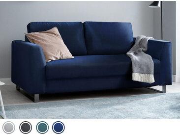 Schlafsofa 3-Sitzer aus blauem Samt inkl. Holz- und Metallfüßen   BRUNO - Hochwertige Materialien, beste Verarbeitung und ein zeitloses, klares Design