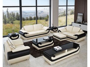 3er Sofa Set Rennes Farbe, Material & Maße frei wählbar - viele Extras
