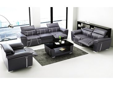 3er Sofa Set Grenoble Farbe, Material & Maße frei wählbar - viele Extras