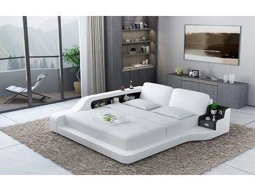 Doppel Bett Geneva Weiß/Schwarz