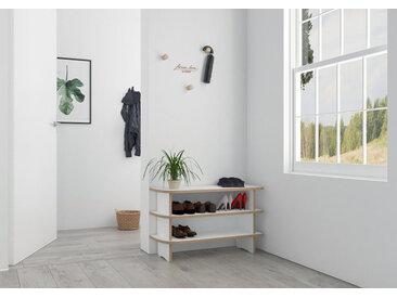 "Schuhregal ""Anga"" – konfigurierbar | 80 x 50 x 30 cm | Weiß, MDF"