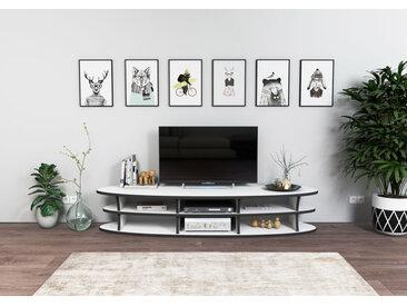 "TV-Lowboard ""Siri"" – konfigurierbar | 160 x 30 x 48 cm | Weiß, MDF"