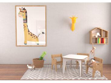 Tisch Kindertisch Noel - 60 x 60 x 46 cm (L x B x H) - Weiss, Birkenschichtholz, 18 mm - konfigurierbar in 3D