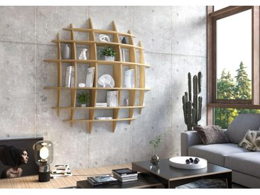 "Wandregal ""Sole"" – Bestseller | 155x 155 29 cm | Eiche Furnier, Multiplex"