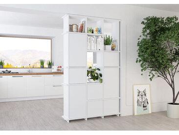 "Raumteiler ""Gala"" – konfigurierbar | 120 x 200 x 30 cm | Weiß, Span bekantet"