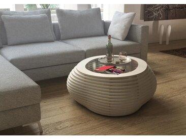 Tisch Couchtisch Formitable Weiß - 91 x 39 x 91 cm (B x H x T) - Weiß, Birkenschichtholz, 12 mm - konfigurierbar in 3D