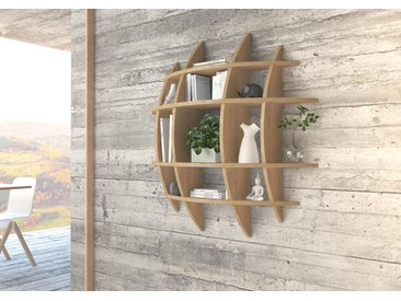 Regal Wandregal Luna - Eiche, Birkenschichtholz, 18 mm - konfigurierbar in 3D