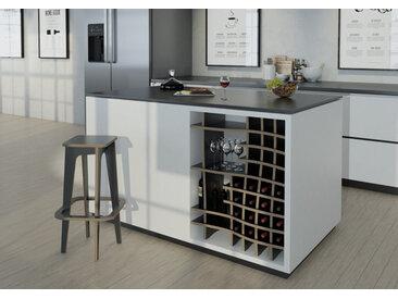 Regal Weinregal Vinny - 73 x 89 x 34 cm (B x H x T) - Schwarz, Birkenschichtholz, 18 mm - konfigurierbar in 3D