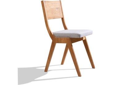 Schlichter Massivholzstuhl 'Simple' | mit Polsterung | äußerst stabile Handarbeit aus Südtirol | in verschiedenen Holzarten